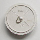 2 1/2 inch Extra Large White Rubber Sink Plug - 74000353